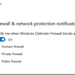 How to disable Firewall and network protection notifications using Microsoft Intune