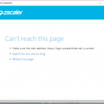 Microsoft Intune – zscaler client connector connectivity issues cant reach login.microsoftonline.com