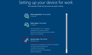 Windows Autopilot stuck at account setup working on it-quick tip